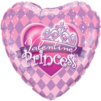 Valentine Glitter Princess Tiara Balloon in a Box