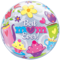Tea Time Best Mum Bubble Balloon Balloon in a Box