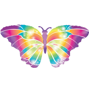 Luminous Colourful Butterfly Foil Balloon