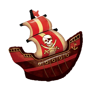 Skull & Crossbones Pirate Ship