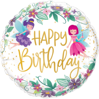 Birthday Wild Flower Fairies Balloon in a Box