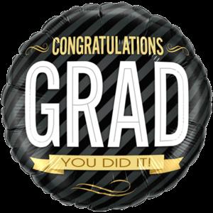 Congratulations Grad Colourful Balloon in a Box