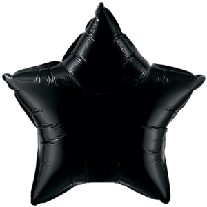 "20"" Onyx Black foil Star Balloon Product Display"