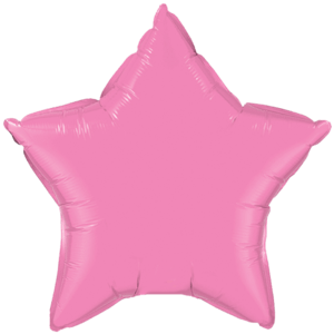 "20"" Rose foil Star Balloon Product Display"