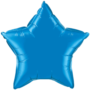 "20"" Sapphire Blue foil Star Balloon Product Display"