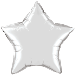 "20"" Silver foil Star Balloon Product Display"