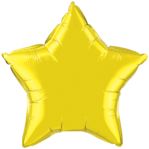 "20"" Citrine Yellow foil Star Balloon Product Display"