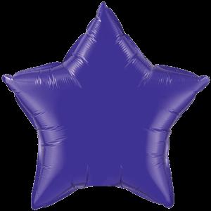 """20"""" Quartz Purple foil Star Balloon Product Display"""