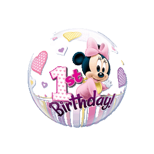 Disney Minnie Mouse 1st Birthday Hearts Balloon in a Box
