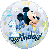 Disney Mickey Mouse 1st Birthday Stars Balloon in a Box