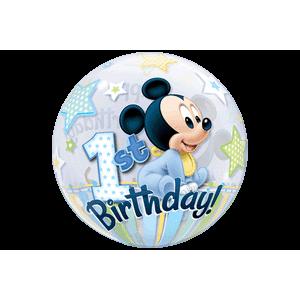 Disney Mickey Mouse 1st Birthday Stars Balloon in a Box