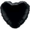 "18"" Onyx Black foil Heart Balloon"