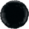 """18"""" Round Onyx Black Foil Balloon overview"""