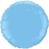 """18"""" Round Pale Blue Foil Balloon overview"""
