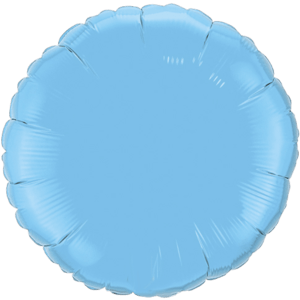 "18"" Pale Blue foil Round Balloon Product Display"