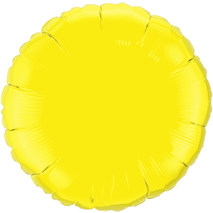 "18"" Yellow foil Round Balloon Product Display"