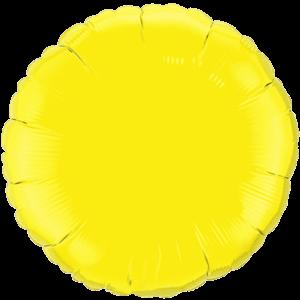 """18"""" Yellow foil Round Balloon"""
