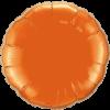 """18"""" Round Orange Foil Balloon overview"""
