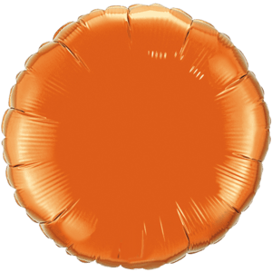 "18"" Orange foil Round Balloon"