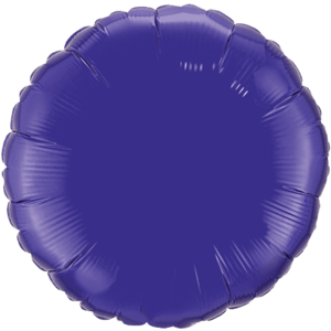 "18"" Quartz Purple foil Round Balloon Product Display"