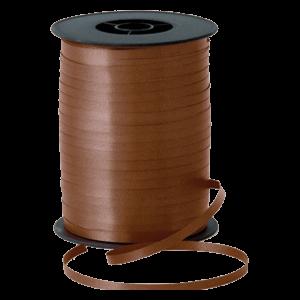 Matt Chocolate Brown Curling Ribbon 500m Product Display