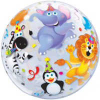 "22"" Animal Circus Bubble Balloon in a Box"