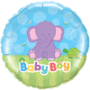 "18"" Baby Boy Elephant Balloon overview"