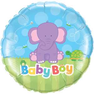 Its a Boy Elephant Balloon in a Box