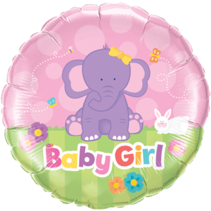 Its a Girl Elephant Balloon in a Box