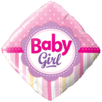 Diamond Baby Girl Balloon in a Box
