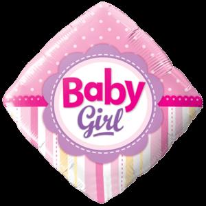 Diamond Baby Girl Balloon in a Box