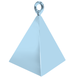 Pearl Light Blue Pyramid Balloon Weight Product Display