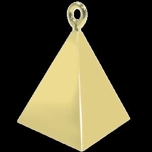 Gold Pyramid Balloon Weight Product Display