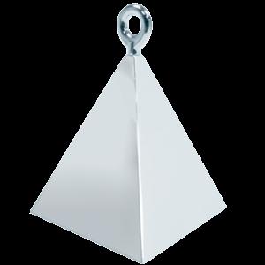 Silver Pyramid Balloon Weight Product Display