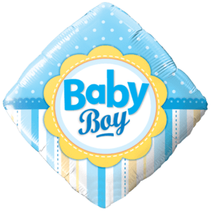 Blue Diamond Baby Boy Balloon in a Box