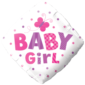 Pink Baby Girl Balloon in a Box