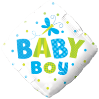 Blue & Green Baby Boy Balloon in a Box