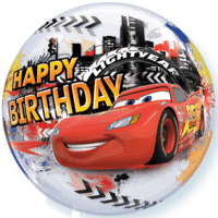 Cars McQueen Birthday Bubble Balloon Balloon in a Box