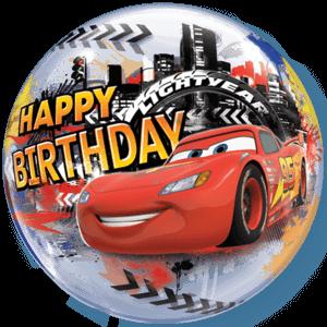 Cars McQueen Birthday Bubble Balloon Balloon in a Box