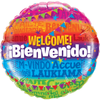 Welcome Round Foil Balloon Balloon in a Box