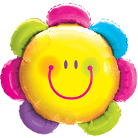 "32"" Bright Flower Face Balloon in a Box"