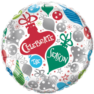 Celebrate the Season Baubles Balloon in a Box