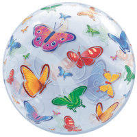 Fluttering Butterflies Bubble Balloon in a Box