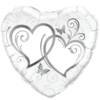 "18"" Silver Entwined Hearts Balloon overview"