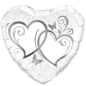 Entwined Hearts Pattern Foil Balloon Balloon in a Box