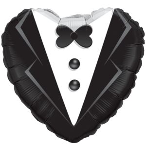 Wedding Suit Foil Balloon Balloon in a Box