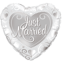 Just Married Foil Balloon Balloon in a Box