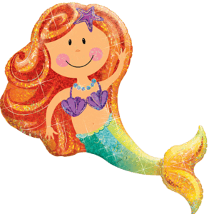 Vibrant Merry Mermaid Balloon in a Box