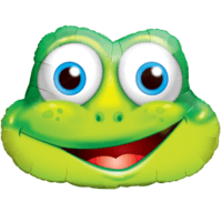 Big Smiling Frog Foil Balloon Balloon in a Box