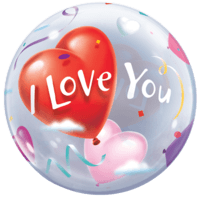 "22"" Floating I Love You Hearts Bubble Balloon in a Box"